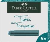 Faber Castell inktpatronen turquoise doosje a 6 stuk