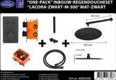 """Best Design Regendouche inbouw """"Lacora-Nero M-300"""" mat-zwart inclusief inbouwbox"""