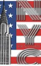 USA American Flag Iconic Chrysler Building New York City Sir Michael Huhn Artist Drawing Journal