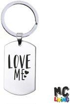 Sleutelhanger RVS - Love Me