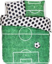 Covers & Co Soccer - Dekbedovertrek - Eenpersoons - 140 x 220 - Green