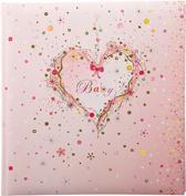 GOLDBUCH GOL-15315 Babyalbum PINK HEART als Fotoboek zonder tekst