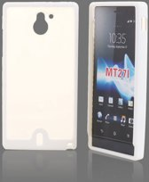 Image of Sony Xperia Sola Hard Case Hoesje - Special Wit (8719321047947)