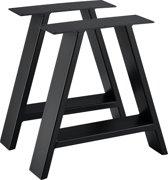 [en.casa] Stalen A - tafelpoot - meubelpoot 40x10x40 zwart