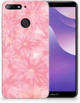 Huawei Y6 (2018) Uniek TPU Hoesje Spring Flowers