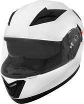 Vinz Harrow Motorhelm / Helm met Zonnevizier / Integraalhelm - Wit-Small