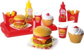 Ecoiffier 100% CHEF speelgoed hamburger set