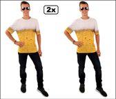 2x Bier t-shirt maat XL