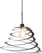 QAZQA scroll - Hanglamp - 1 lichts - Ø 500 mm - Zwart
