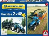 Schmidt puzzel New Holland TD5 2 x 48 stukjes