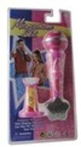 Mooie roze microfoon met houder.
