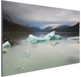 Tasman meer Nieuw-Zeeland Aluminium 120x80 cm - Foto print op Aluminium (metaal wanddecoratie)