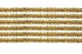 10x chenilledraad goud 50 cm