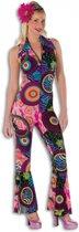 Dames disco jumpsuit gekleurd 36 (s)