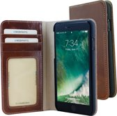 Mobiparts Excellent Wallet Case voor Apple iPhone 7 / iPhone 8 Oaked Cognac
