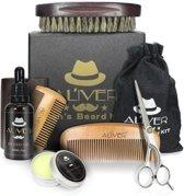 Baard Verzorging set - Baardset - Geschenk - Grooming Kit - Voor Mannen - Barbershop set - Baardgroei - Baardstyling - Professioneel - Kam - Borstel - Schaar - Olie - Balsem -