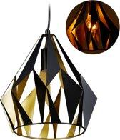 relaxdays hanglamp retro - plafondlamp - E27 - metaal - industriële lamp - eettafel lamp