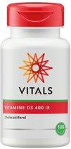 Vitals Vitamine D3 400 i.e.  - 100 Capsules - Vitaminen