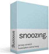 Snoozing Jersey Stretch - Hoeslaken - Extra Hoog - Eenpersoons - 90/100x200/220 cm - Hemel