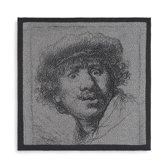Knit Factory Keukendoek Rembrandt Ecru/Antraciet
