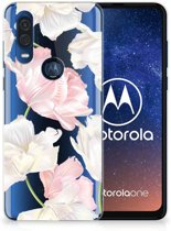 Motorola One Vision TPU Case Lovely Flowers