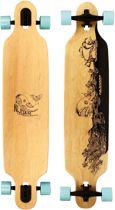 "Nijdam Pro-line Longboard 42"" Drop-through - Wooden Warrior - Blank/Rood/Antraciet"