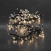 Cluster kerstverlichting wit 384 LED lampjes