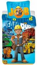 Bob de Bouwer Great Job - Dekbedovertrek - Eenpersoons - 140 x 200cm cm - Multi