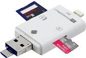 Lightning FlashDevice 3-in-1 Card Reader USB SDHC Micro SD Card Reader iOS, Windows MacOS en Android Samsung