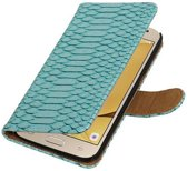 Samsung Galaxy J2 2016 Hoesje Slang Bookstyle Turquoise