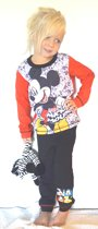 Disney - Mickey Mouse - peuter / kleuter/ kinder - pyjama - rood-zwart - maat 104/110