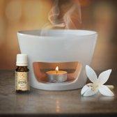Aromabrander Wit van keramiek / aromabrander - 15cm bij 10 cm / etherische olie / olie vernevelen / etherische oliebrander / geurbrander / aromaverstuiver / aromatherapie / geurolie / wellness / ontspanning / SPA / cadeau van Aromatika