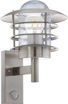 EGLO Mouna - Buitenverlichting - IP44 - Wandlamp - Sensor - Roestvast Staal - Helder