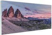 Panoramafoto Dolomieten Zuid-Tirol Glas 120x80 cm - Foto print op Glas (Plexiglas wanddecoratie)