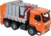 Lena GIGA TRUCKS Garbage truck Arocs with labels Voorgemonteerd Vuilniswagen miniatuur