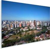 Skyline downtown Curitiba in Brazilië Plexiglas 40x30 cm - klein - Foto print op Glas (Plexiglas wanddecoratie)