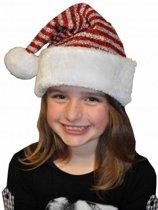 Kerstmuts met glitters voor kinderen
