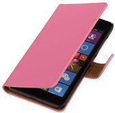 Microsoft Microsoft Lumia 535 Roze | bookstyle / book case/ wallet case Hoes  | WN™