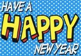 Enkele Nieuwjaarskaart - Ansichtkaart 9 - 10 stuks - Engelstalig