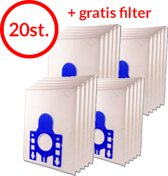 Stoza Philips S-Bag filterplus 3-D stofzuigerzak (20 stuks + 2 GRATIS filters) High performance