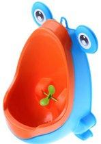 Kids van 8 mnd tot 6 jaar oud - kikker Kinder Urinoir Kinderurinoir I Plaspot I Plaspotje I vastplakken met zuignappen aan elke muur I Blauw