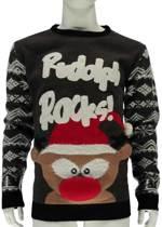 Foute Kersttrui Heren Rudolph Rocks - Maat XL
