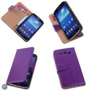 PU Leder Lila Samsung Galaxy Grand 2 Book/Wallet Case/Cover Hoesje