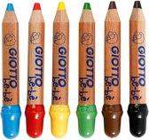 Kleurpotloden, vulling: 6 mm, d: 13 mm, 6 stuks, diverse kleuren