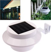 Lichtregeling op zonne-energie wandlamp, 3-LED Light Garden Lamp (wit)