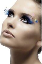 Blauwe Wimpers Met Veertjes