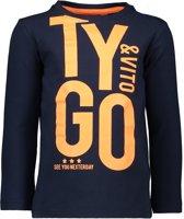 TYGO & vito Jongens T-shirt - donker blauw - Maat 110/116