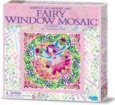4m Creatieve knutselset venstermoza�ek: fee�n roze