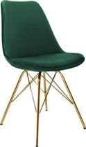 Kick Kuipstoel Velvet - Donker Groen - Goud Frame