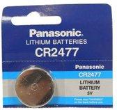 1 Stuk - Panasonic Professional CR2477 P120 3V 1000mAh Lithium knoopcel (Let op. Anders dan CR2477N)